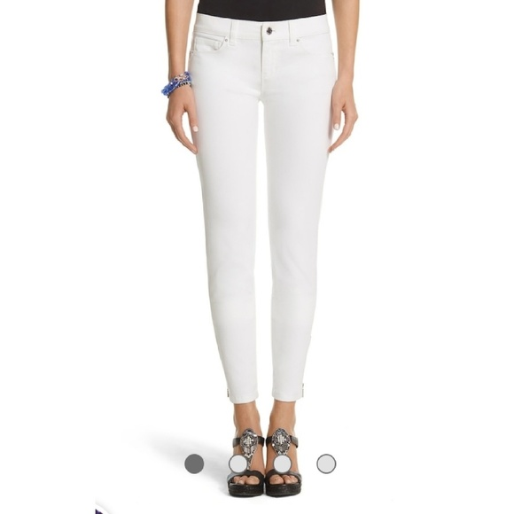 White House Black Market Denim - White House Black Market White Jeans Skimmer Pants